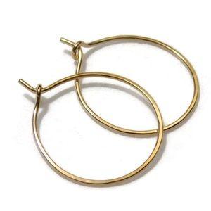 Moodtherapy Jewelry - One inch hoop earrings